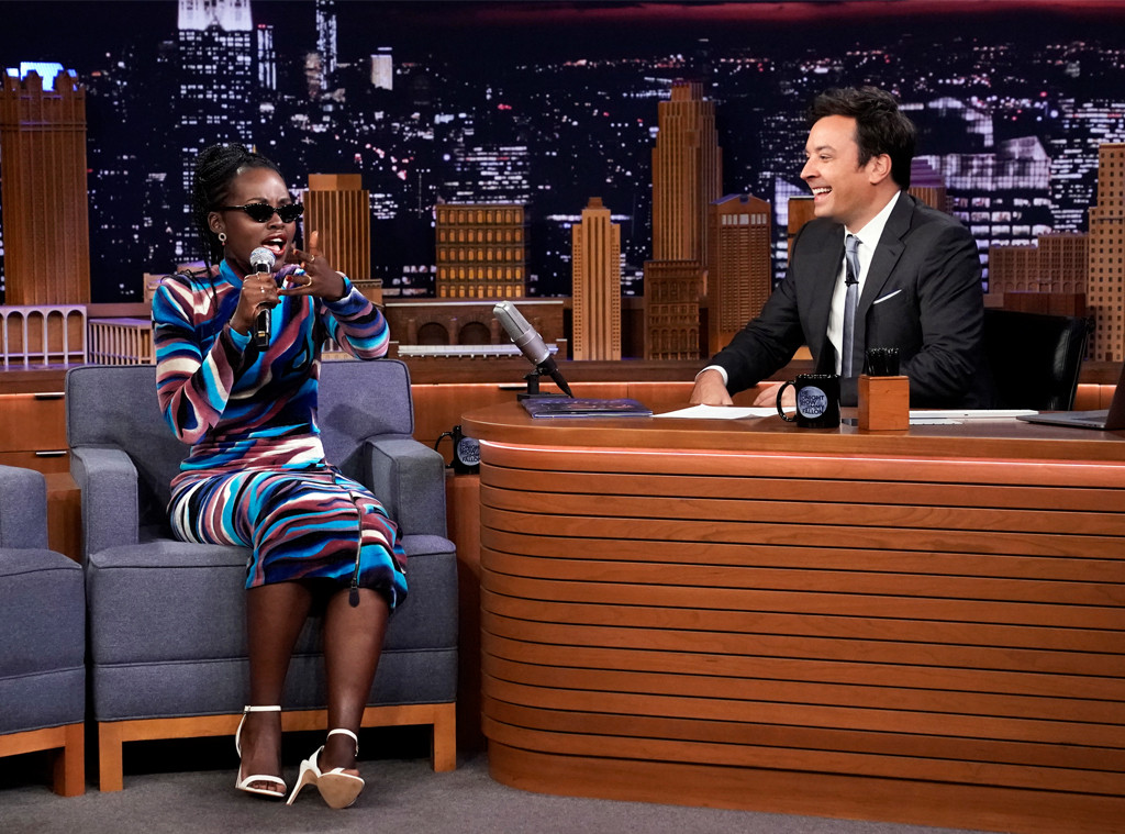Lupita Nyong'o, Jimmy Fallon, The Tonight Show 2019