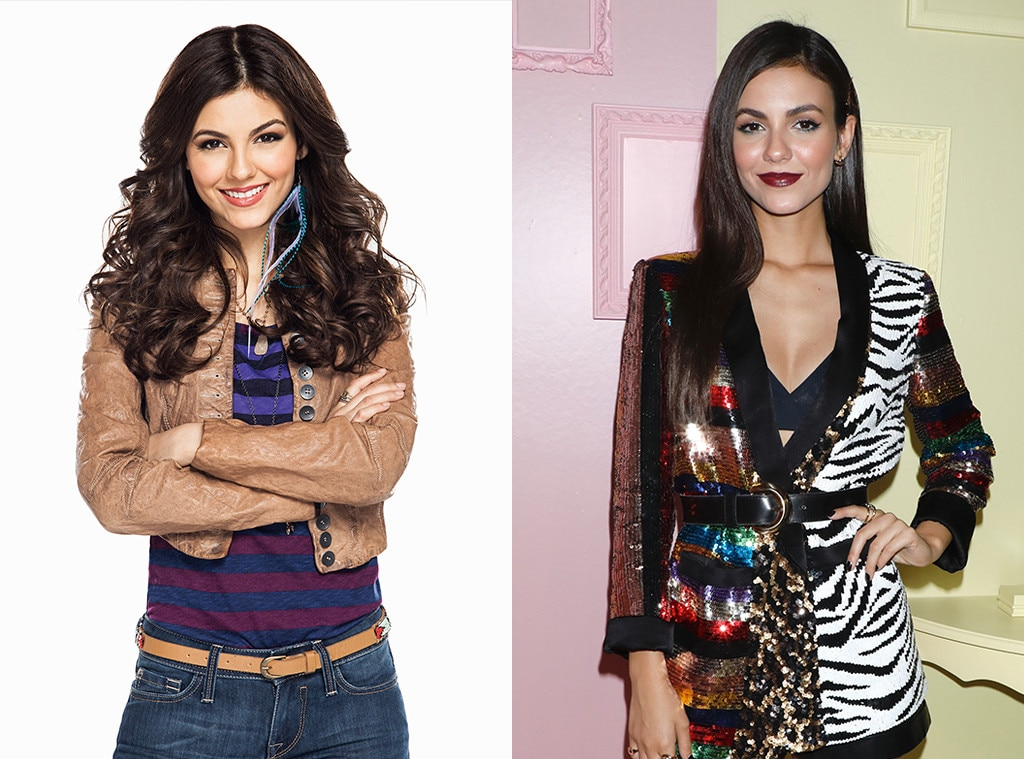 Victoria Justice Victorious From Nickelodeon Stars Then And