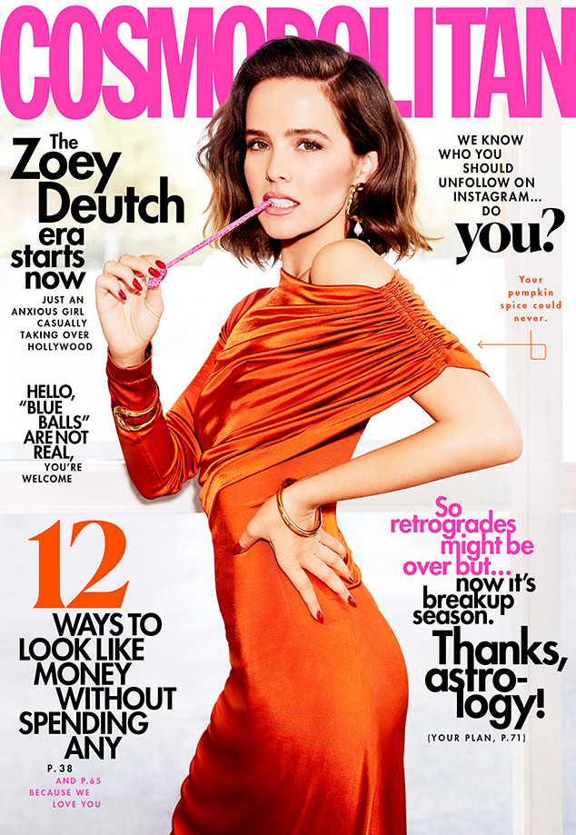 Zoey Deutch, Cosmopolitan Cover 2019