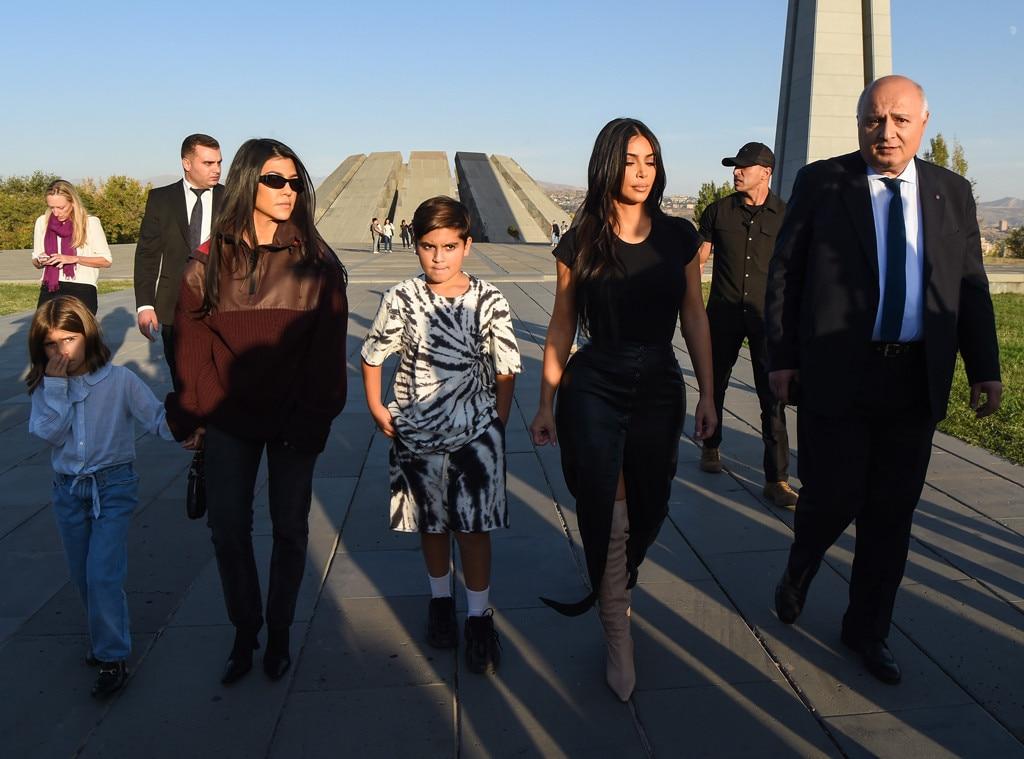 Kourtney Kardashian, Kim Kardashian, Mason Disick, Penelope Disick, Harutyun Marutyan, Armenia
