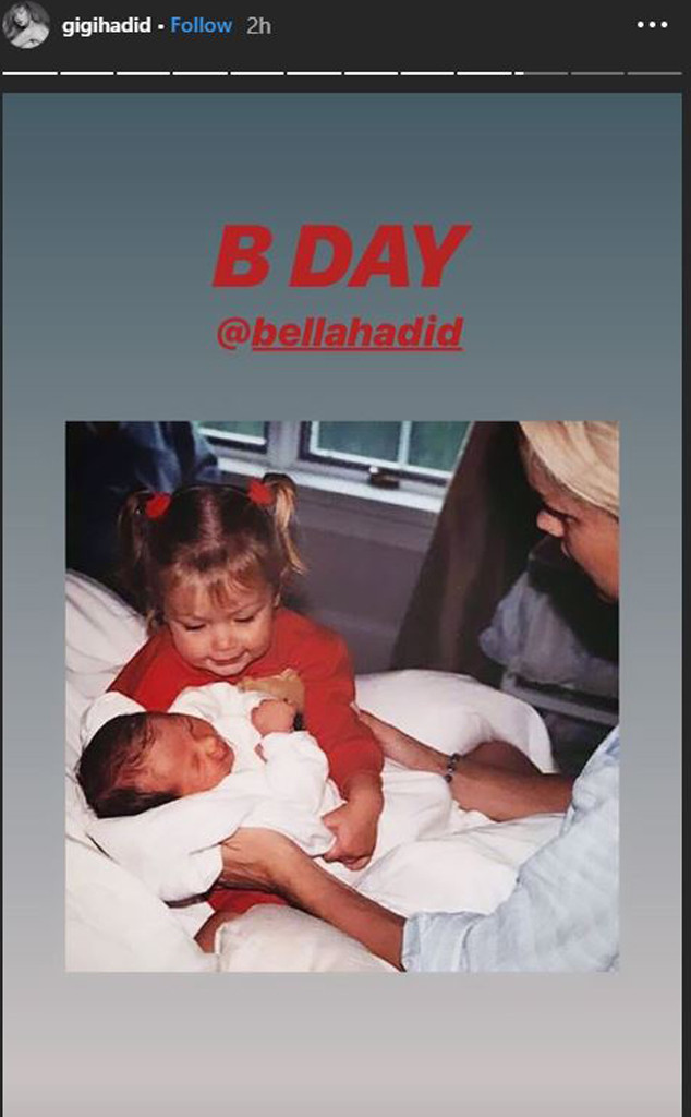 Gigi Hadid, Bella Hadid, Birthday Instagram Story 2019