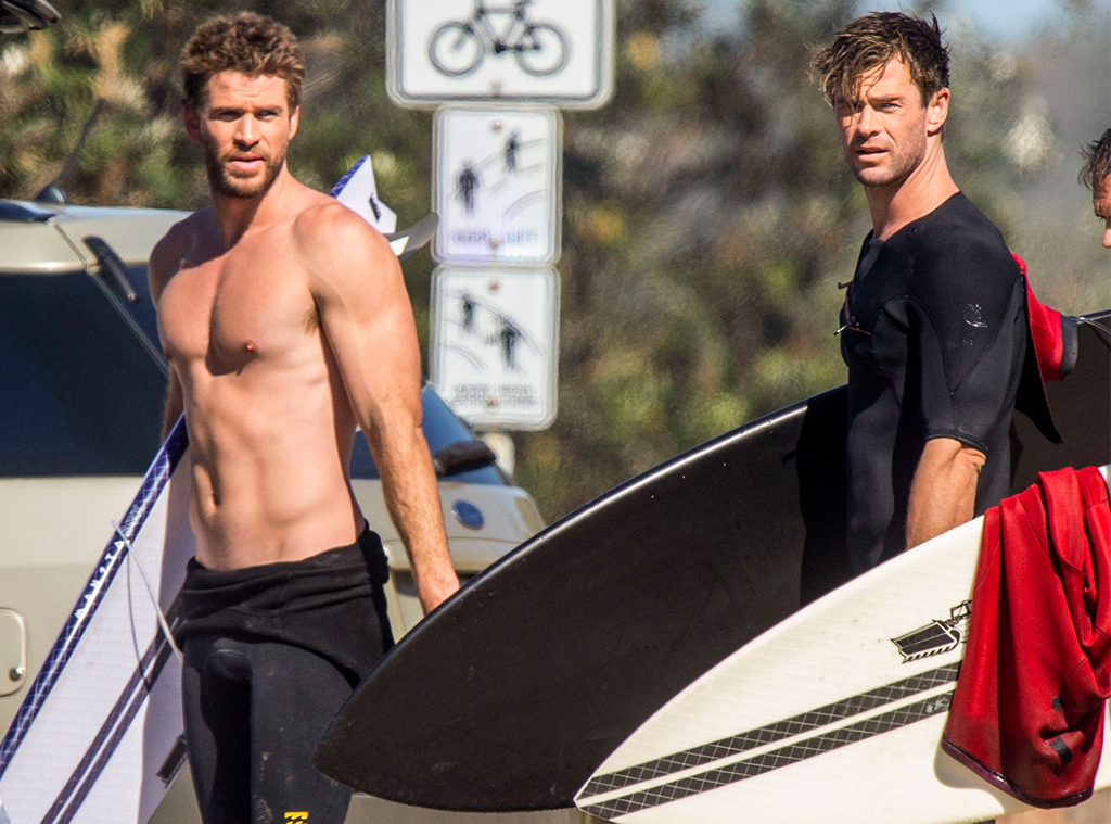 Chris Hemsworth, Liam Hemsworth, August 2019
