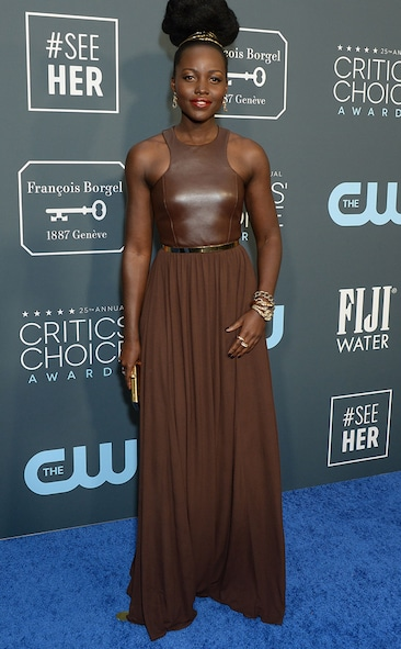 Critics' Choice Awards 2020 Red Carpet Fashion Lupita Nyongo, 2020 Critics Choice Awards, Red Carpet Fashion