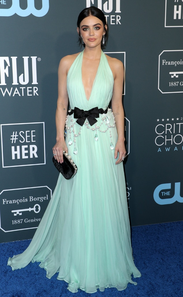 Lucy Hale, 2020 Critics Choice Awards, Red Carpet Fashion