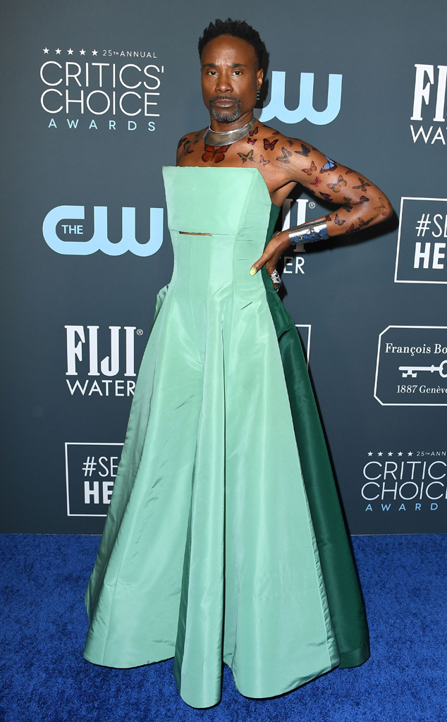 Image result for billy porter critics choice awards 2020