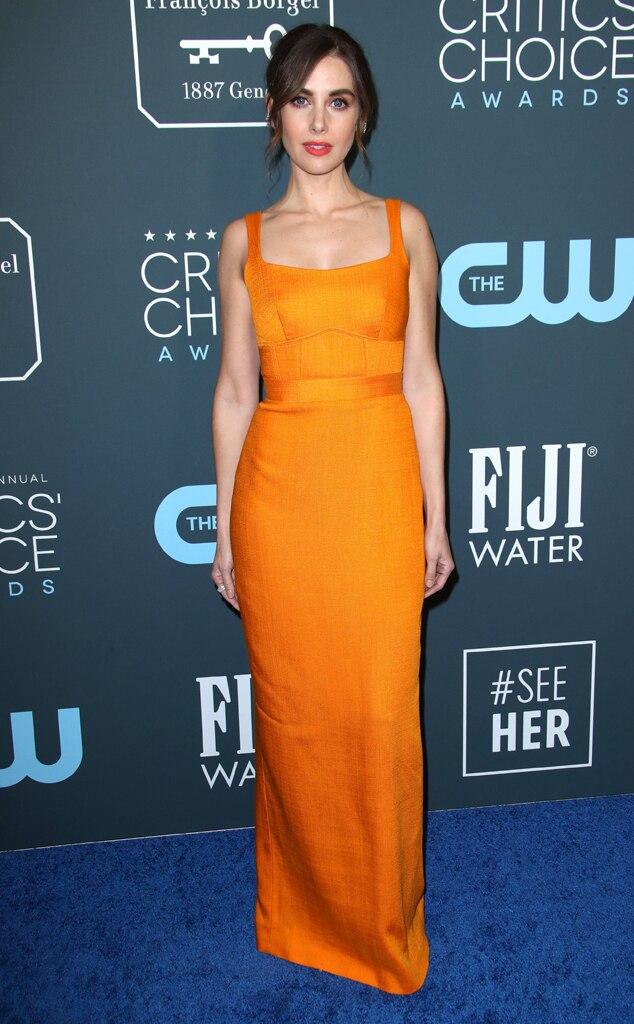 Alison Brie, 2020 Critics Choice Awards, Red Carpet Fashion
