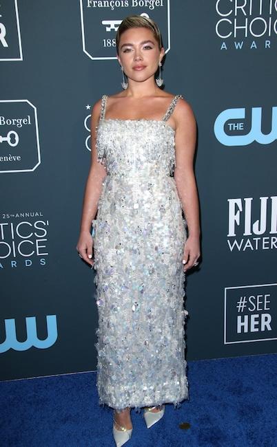 Florence Pugh, 2020 Critics Choice Awards, Red Carpet Fashion