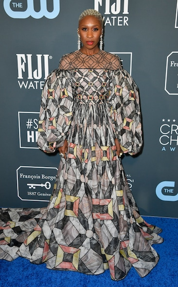 Critics' Choice Awards 2020 Red Carpet Fashion Cynthia Erivo, 2020 Critics Choice Awards, Red Carpet Fashion