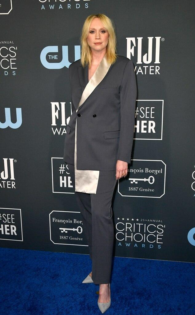 Gwendoline Christie, 2020 Critics Choice Awards, Red Carpet Fashion