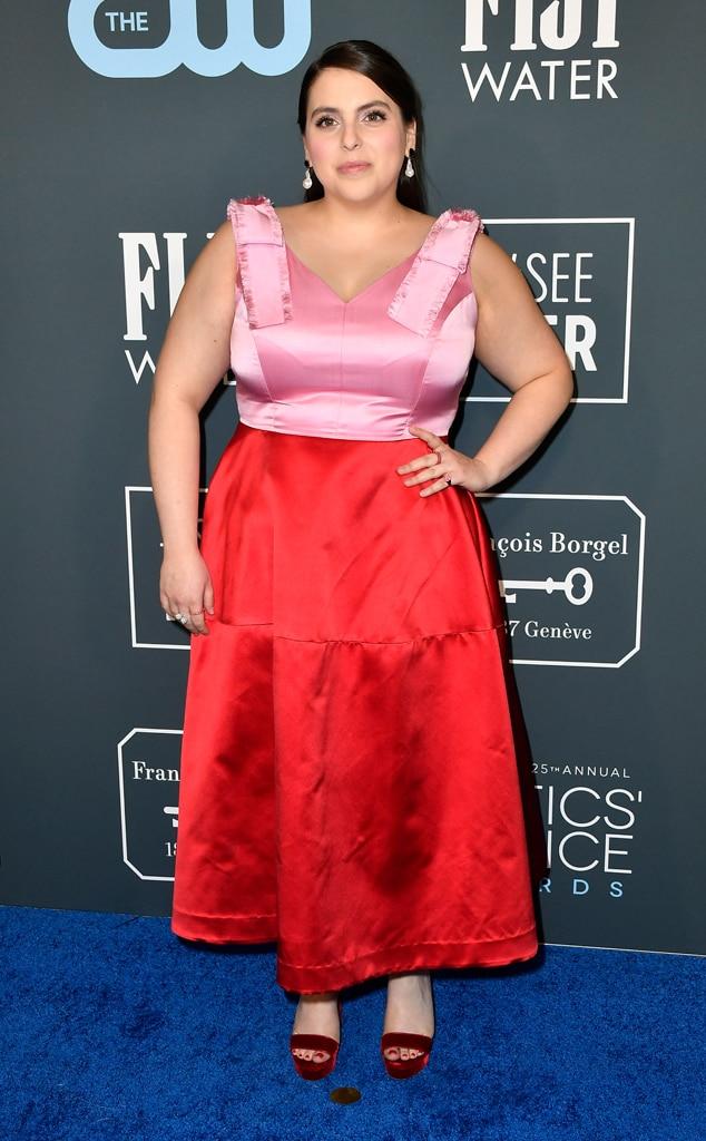 Beanie Feldstein, 2020 Critics Choice Awards, Red Carpet Fashion
