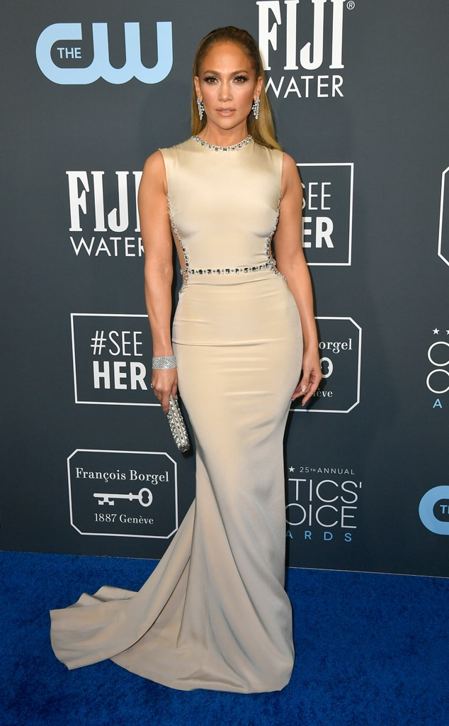 Jennifer Lopez, 2020 Critics Choice Awards, Red Carpet Fashion