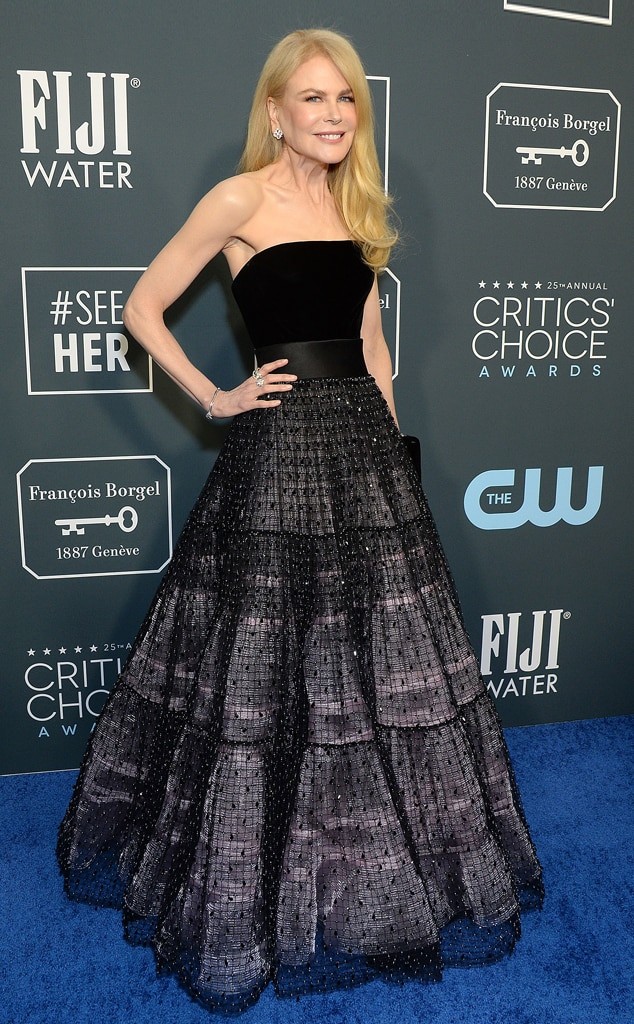 Nicole Kidman, 2020 Critics Choice Awards, Red Carpet Fashion