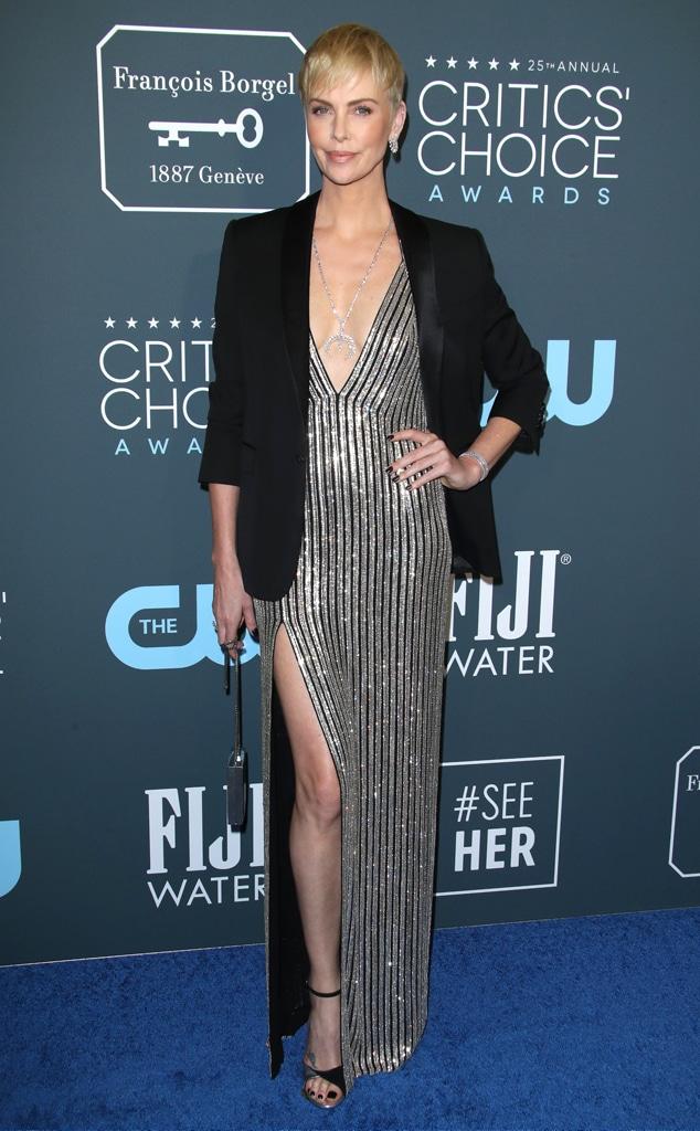 Charlize Theron, 2020 Critics Choice Awards, Red Carpet Fashion