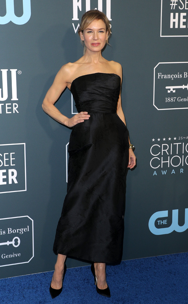 Renee Zellweger, 2020 Critics Choice Awards, Red Carpet Fashion