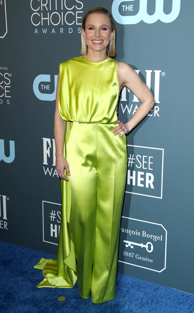 Kristen Bell, 2020 Critics Choice Awards, Red Carpet Fashion