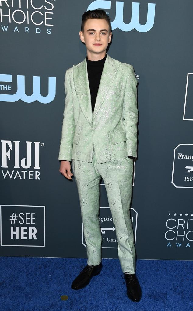 Jaeden Martell, 2020 Critics Choice Awards, Red Carpet Fashion