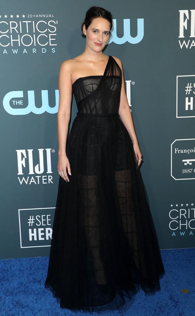 Phoebe Waller-Bridge, 2020 Critics Choice Awards, Red Carpet Fashion