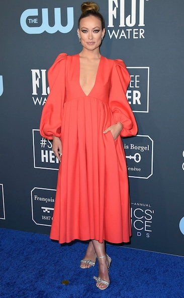 Critics' Choice Awards 2020 Red Carpet Fashion Olivia Wilde, 2020 Critics Choice Awards, Red Carpet Fashion