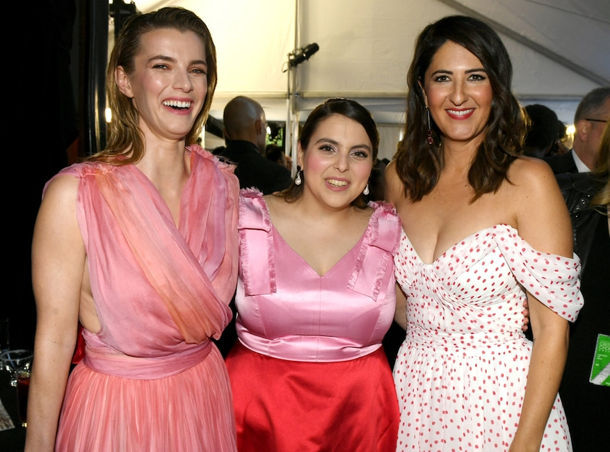 Betty Gilpin, Beanie Feldstein and D'Arcy Carden, 2020 Critics Choice Awards, After Party