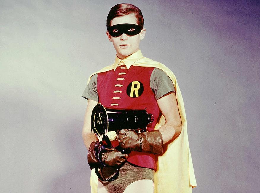 Crisis on Infinite Earths Pop Culture deaths, Burt Ward as Robin