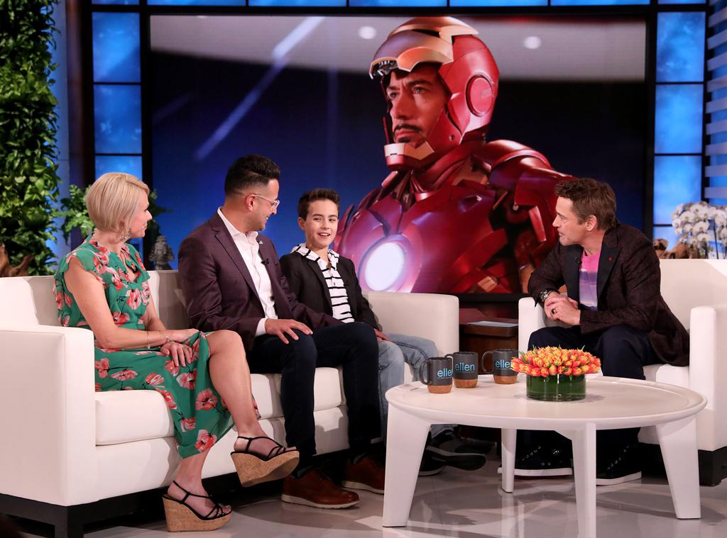 Ellen Degeneres Show Halloween 2020 See An Iron Man Fan Meet Real Life Superhero Robert Downey Jr.   E