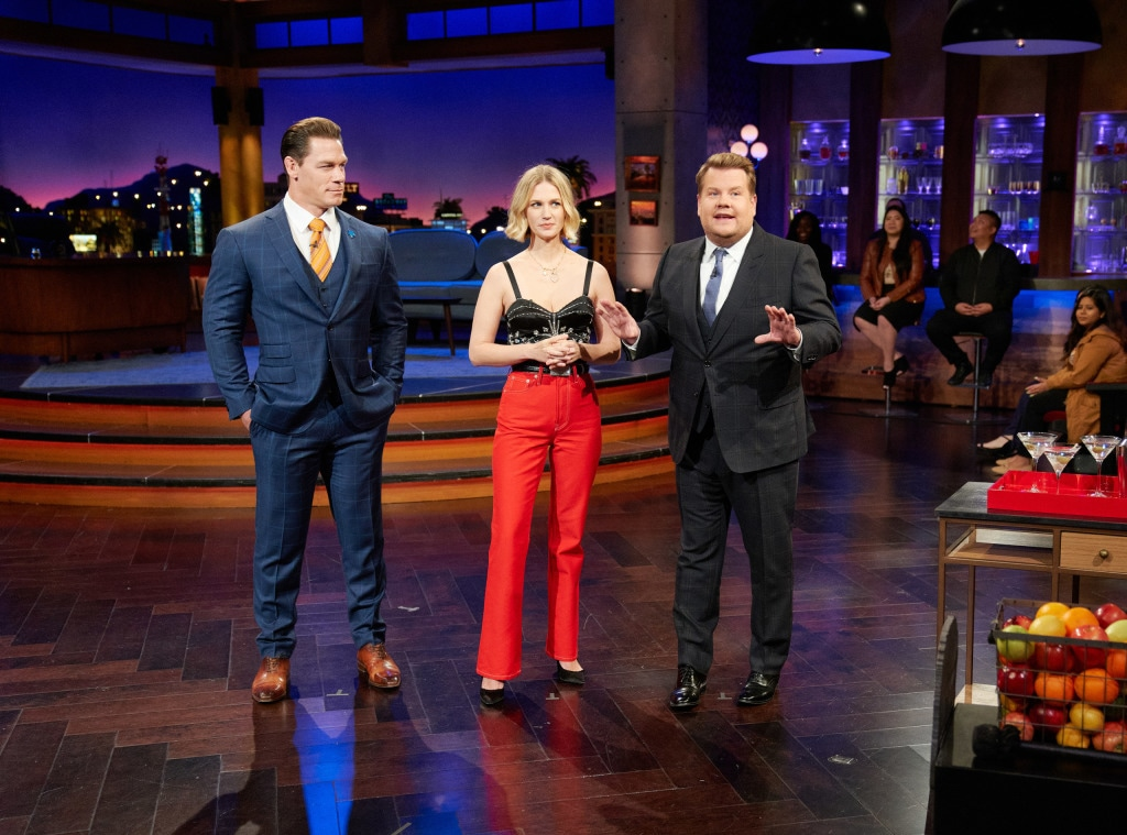John Cena, January Jones, James Corden, The Late Late Show 2020