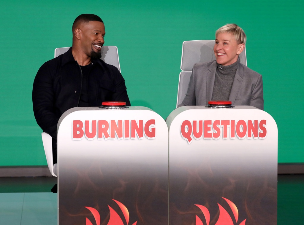 Jamie Foxx, Burning Questions, The Ellen DeGeneres Show 2020