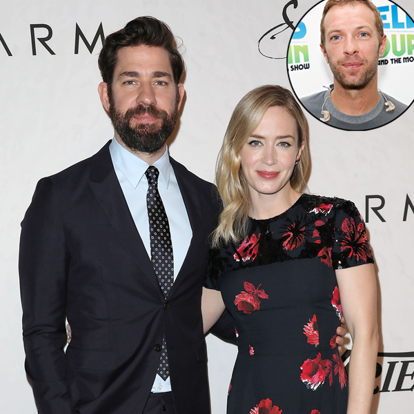 "John Krasinski Responds After He And Emily Blunt Snub ""World Treasure"" Chris Martin"
