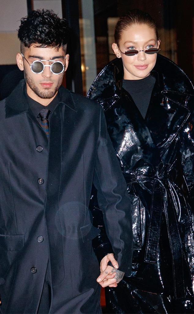 Zayn Malik, Gigi Hadid, black outfits
