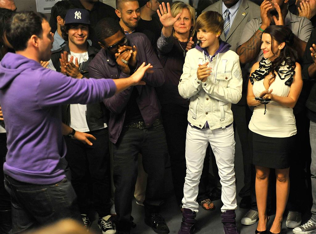 Scooter Braun, Justin Bieber, Pattie Mallette, 2010