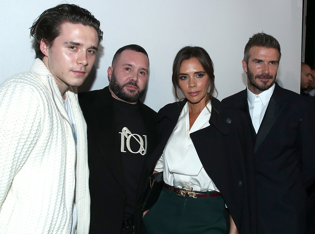 Victoria Beckham, David Beckham, Brooklyn Beckham, Dior Homme, Paris Fashion Week, Menswear FW 2020-2021