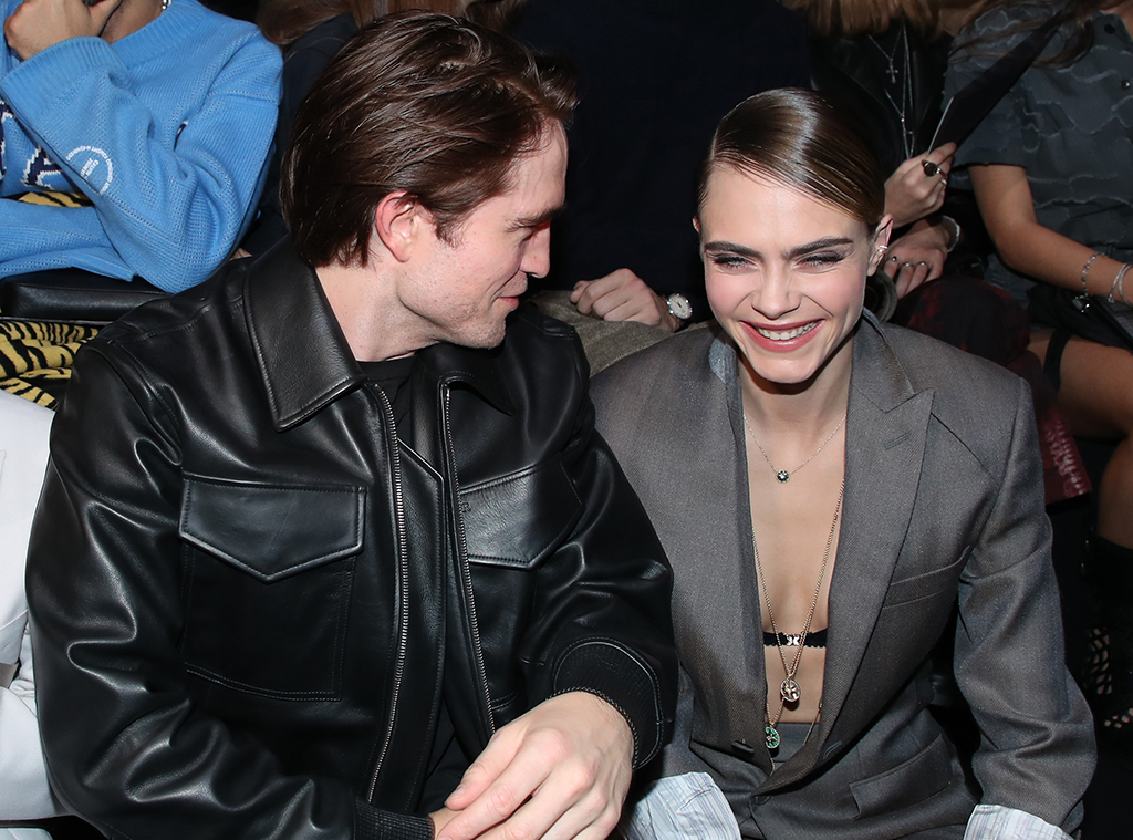 Robert Pattinson and Cara Delevingne, Dior Homme, Paris Fashion Week, Menswear FW 2020-2021