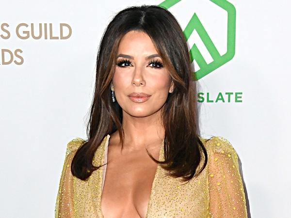 Eva Longoria Shines Bright at the Producers Guild Awards in a Glitzy Gold Gown