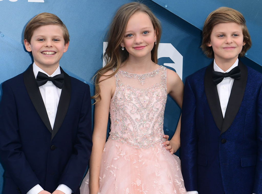 Cameron Crovetti, Nicholas Crovetti, Ivy George, 2020 Screen Actors Guild Awards