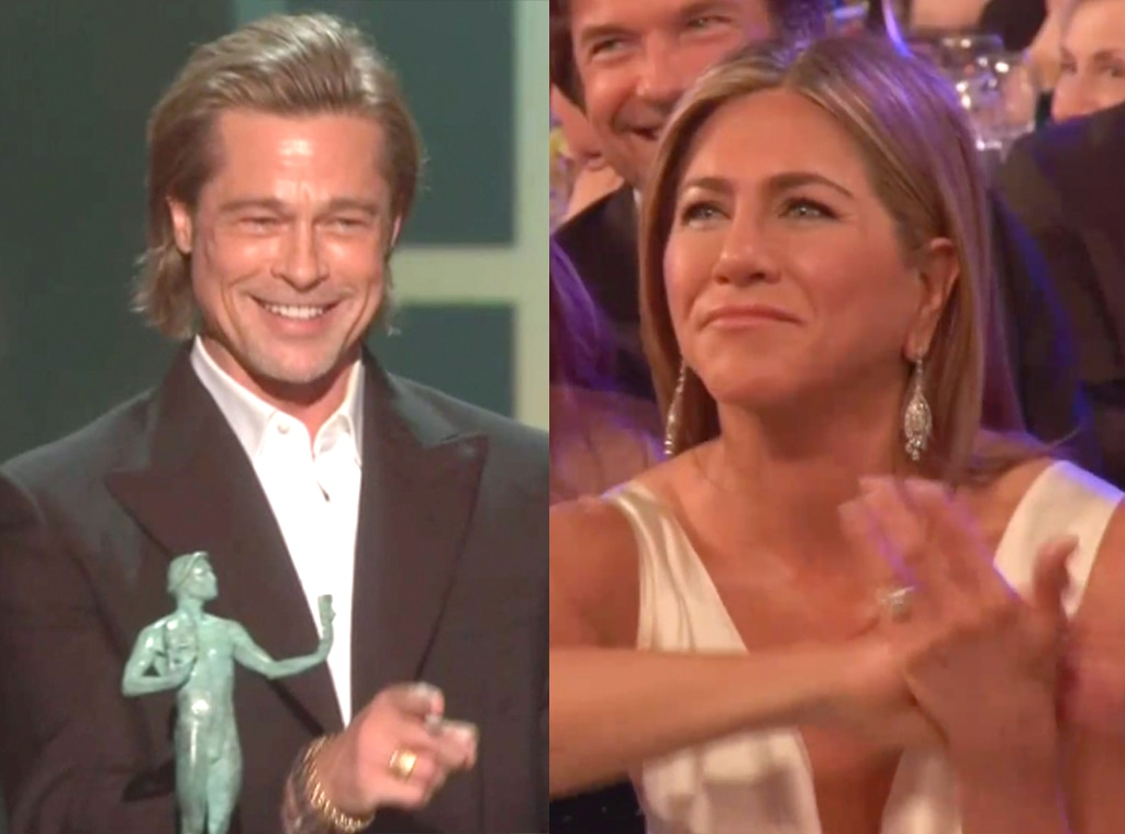 Brad Pitt, Jennifer Aniston, SAG Awards Show Reaction