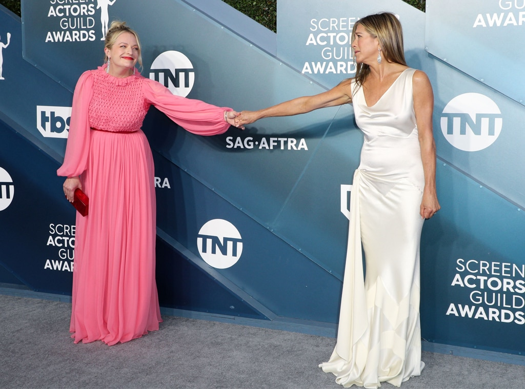 Elisabeth Moss, Jennifer Aniston, 2020 Screen Actors Guild Awards, SAG Awards, Candids