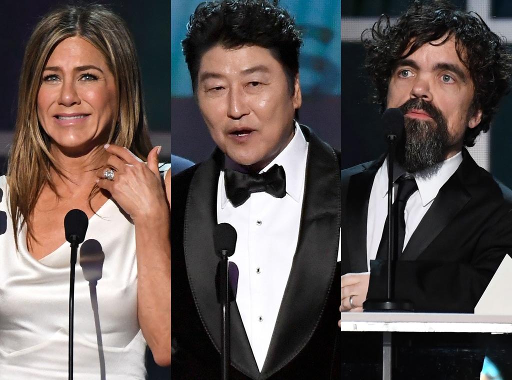 Jennifer Aniston, Kang-ho Song, Peter Dinklage, 2020 Screen Actors Guild Awards, SAG Awards