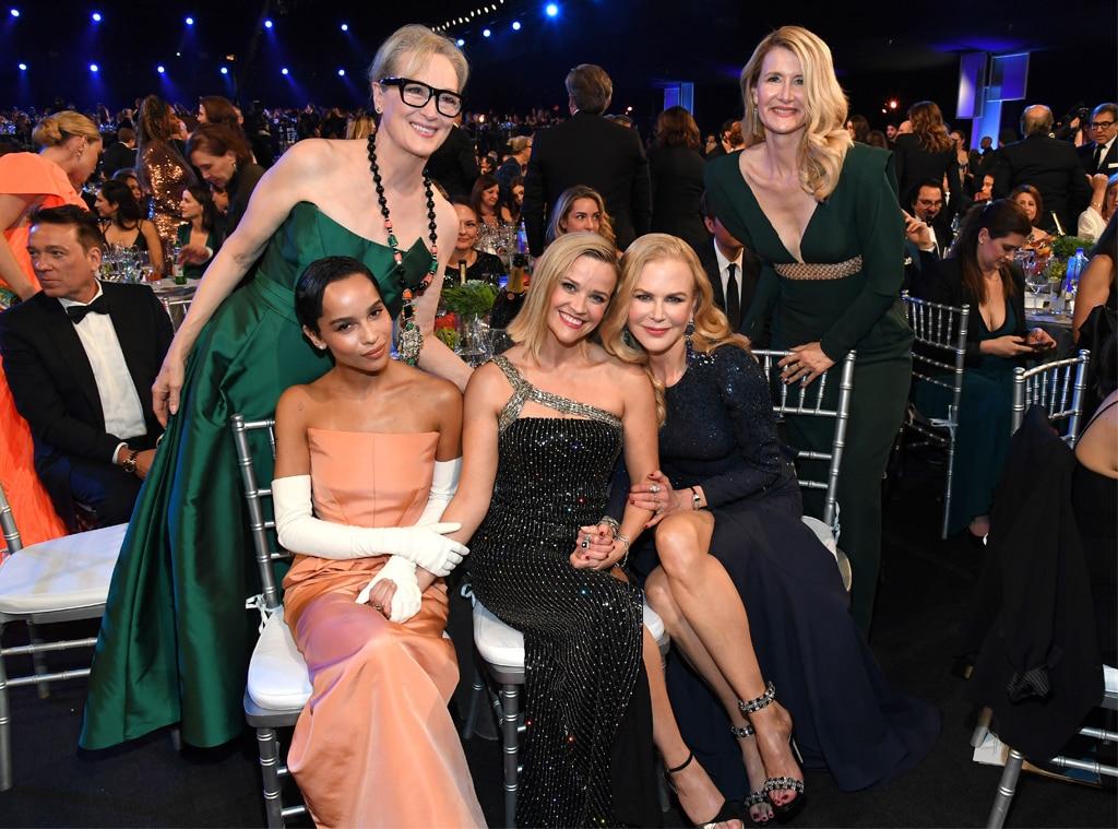 Meryl Streep, Zoe Kravitz, Reese Witherspoon, Nicole Kidman, Laura Dern, 2020 Screen Actors Guild Awards, SAG Awards, Candids