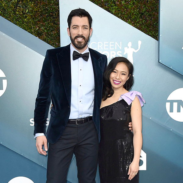 Property Brothers Star Drew Scott Makes Rare Appearance With Wife 2020 SAG Aawards