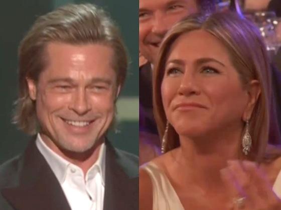 Jennifer Aniston's Reaction to Brad Pitt's 2020 SAG Awards Acceptance Speech Just Stole the Show