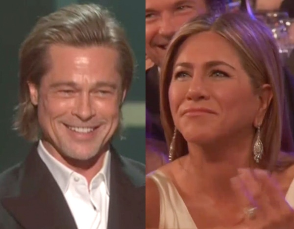 Jennifer Aniston's Reaction to Brad Pitt's 2020 SAG Awards Acceptance Speech Just Stole the Show