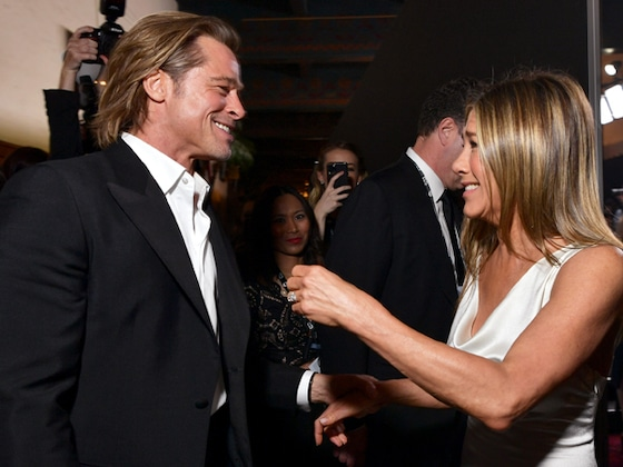 The 8 Stages of Feels We Got After Seeing Jennifer Aniston and Brad Pitt Hug at the 2020 SAG Awards