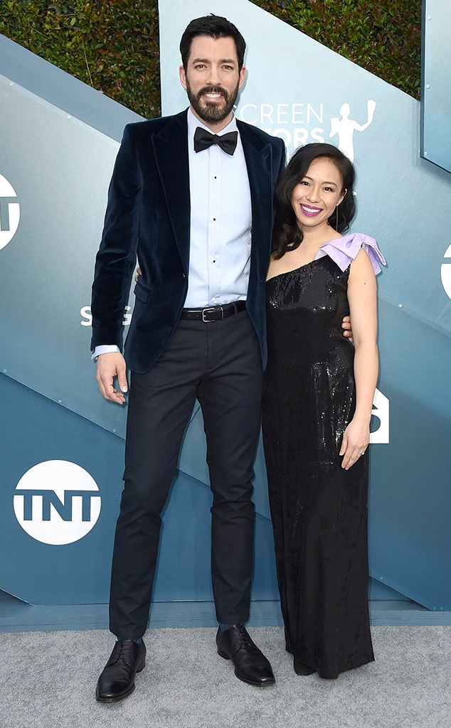 Drew Scott, Linda Phan, 2020 Screen Actors Guild Awards, SAG Awards, Couples