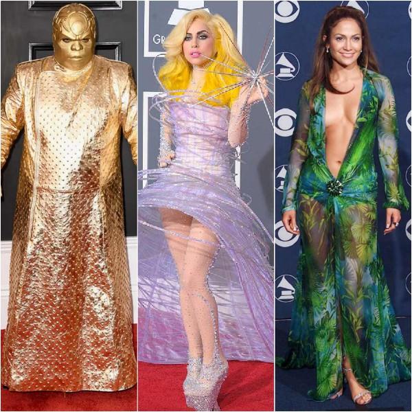 CeeLo Green, Lady Gaga, Jennifer Lopez, Grammy, looks ousados