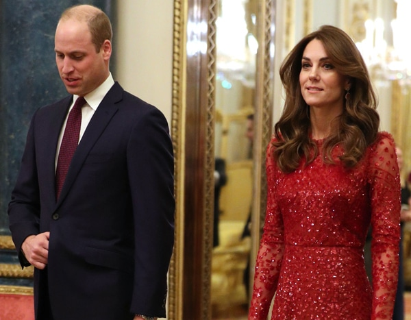 Kate Middleton Lights Up the Room in a Red Sequins Dress During Royal Engagement