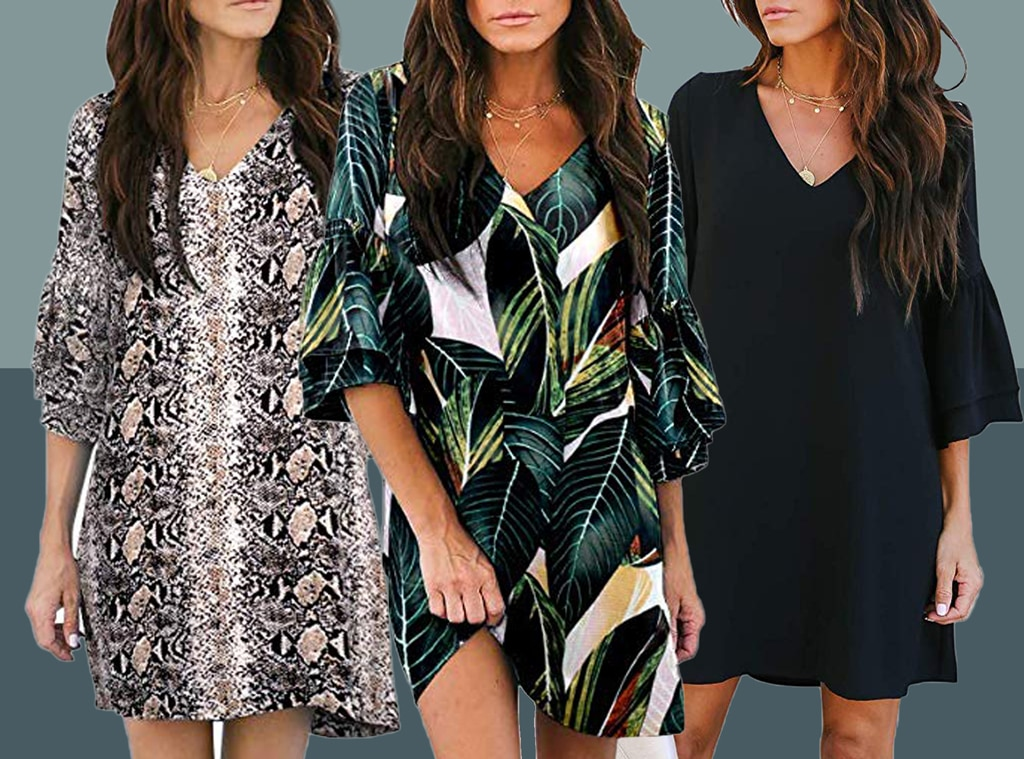 This $27 Bell Sleeve Dress Has 2,200 5 Star Amazon Reviews