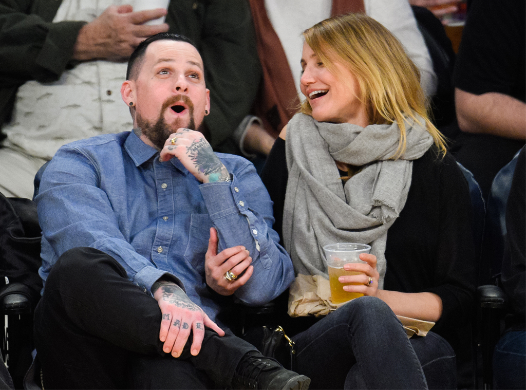 Benji Madden, Cameron Diaz, Lakers game