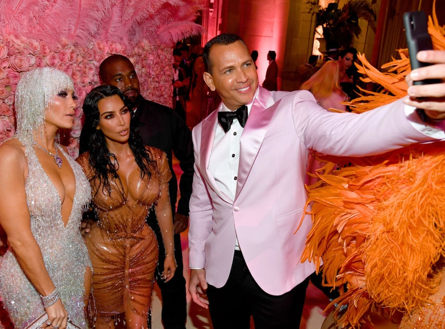 Jennifer Lopez, Kim Kardashian West, Kanye West, Alex Rodriguez, 2019 Met Gala