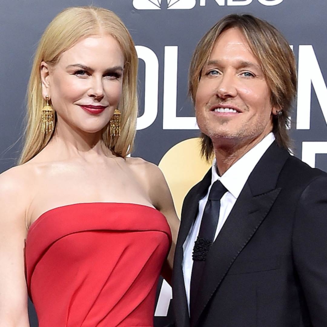 Nicole Kidman Enjoys Rare Family Moment With Keith Urban and Daughters at 2021 Golden Globes - E! NEWS