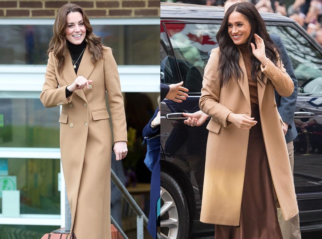 Kate Middleton, Meghan Markle, Camel Coat